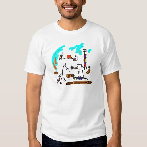 abstract person t-shirt