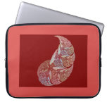 abstract petal laptop sleeve