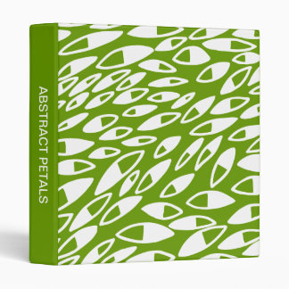 Abstract Petals (1in) White on Avocado Binder