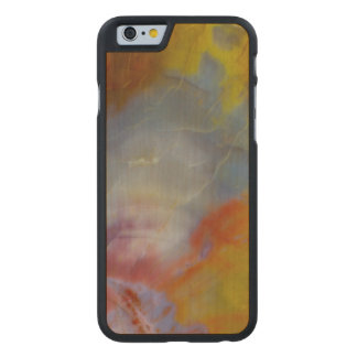 Abstract Petrified Wood close-up Carved Maple iPhone 6 Slim Case