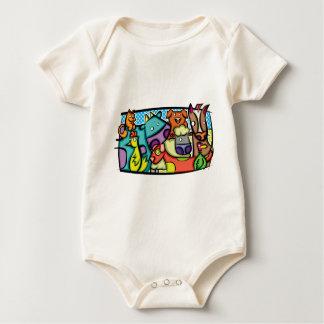 Abstract Petting Zoo Baby Bodysuit