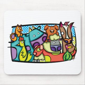 Abstract Petting Zoo Mouse Pad