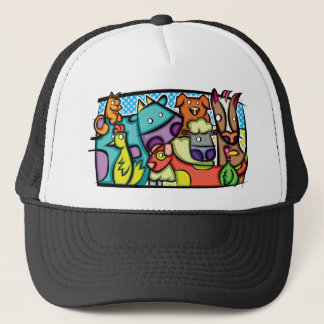 Abstract Petting Zoo Trucker Hat
