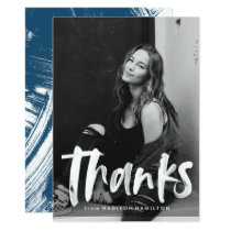 Abstract | Photo Graduation Thank You Card