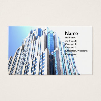 abstract photo of a tall modern skyscraper business card