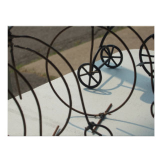 Abstract Photo of bicycles Poster