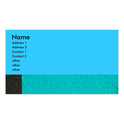 abstract photograph business card