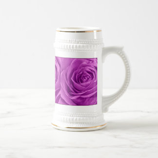 Abstract Photograph of an Orchid Colored Rose Beer Stein