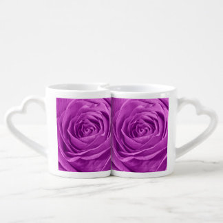 Abstract Photograph of an Orchid Colored Rose Coffee Mug Set