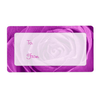 Abstract Photograph of an Orchid Colored Rose Label