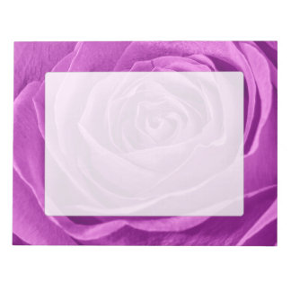 Abstract Photograph of an Orchid Colored Rose Notepad