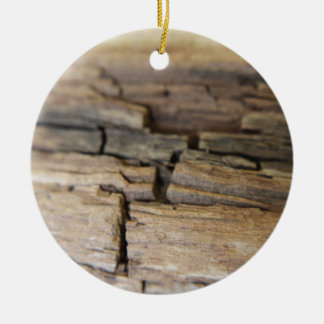 Abstract photograph of wood ceramic ornament