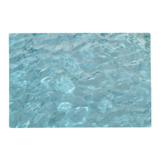 Abstract Photography Aqua Swimming Pool Water Placemat at Zazzle