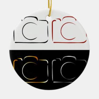Abstract photography camera ceramic ornament