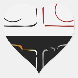 Abstract photography camera heart sticker