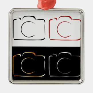 Abstract photography camera metal ornament