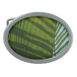 Abstract Photography Green Leaf Belt Buckle