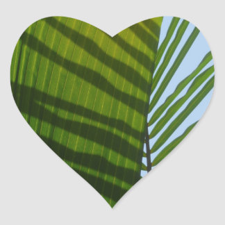 Abstract Photography Green Leaf Heart Sticker