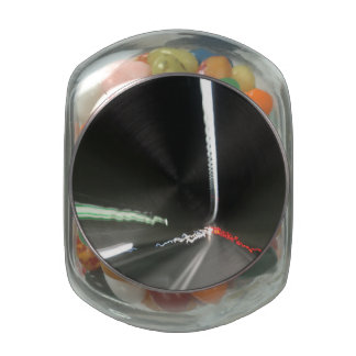 Abstract Photography Lights tunnel Glass Candy Jar