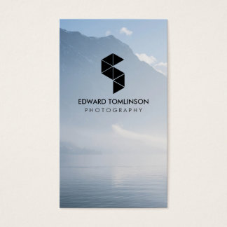 Abstract Photography Logo (black) with Your Photo Business Card