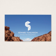 Abstract Photography Logo Iii With Your Photo Business Card at Zazzle