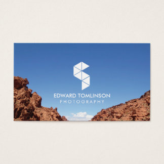 Abstract Photography Logo III with Your Photo Business Card