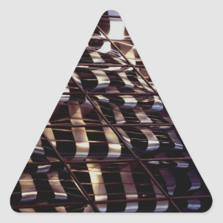 Abstract Photography Magnet Triangle Sticker