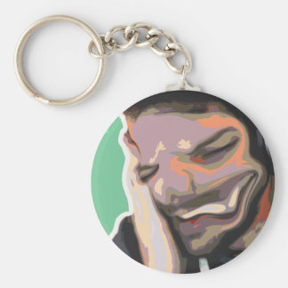 Abstract Photoshop Portrait - Obscure Laughter Keychain