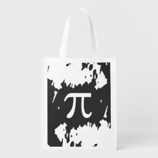 Abstract Pi Symbol - 1 sided design Grocery Bags