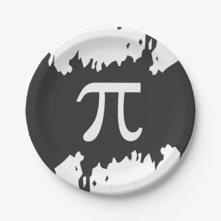 Abstract Pi Symbol Paper Plate
