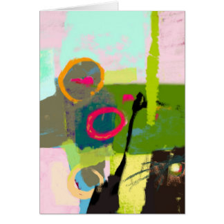 Abstract picture - digital art card