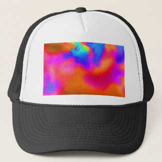 Abstract picture of heart on colorful background trucker hat