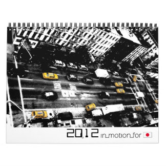 Abstract pictures 2012 (InMotionForJapan-series) Calendar