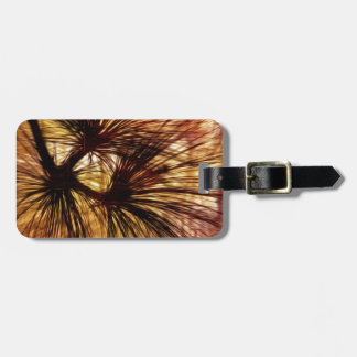 Abstract Pine Needles Bag Tag