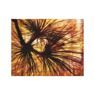 Abstract Pine Needles Canvas Print