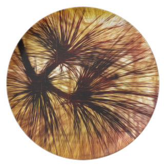 Abstract Pine Needles Melamine Plate