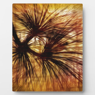 Abstract Pine Needles Plaque