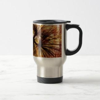 Abstract Pine Needles Travel Mug