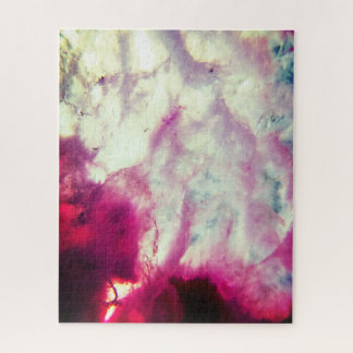 Abstract Pink Agate Jigsaw Puzzle