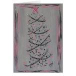 Abstract Pink and Grey Christmas Tree card