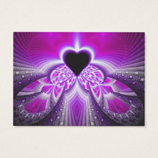 Abstract Pink And Purple Fractal Pattern Business Card