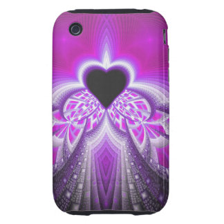 Abstract Pink And Purple Fractal Pattern iPhone 3 Tough Cases