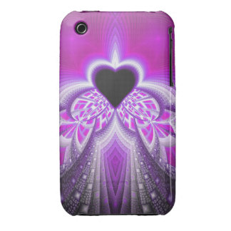 Abstract Pink And Purple Fractal Pattern iPhone 3 Cases