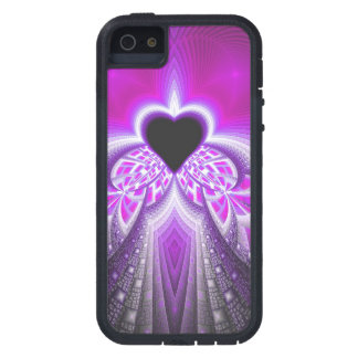 Abstract Pink And Purple Fractal Pattern iPhone 5 Case