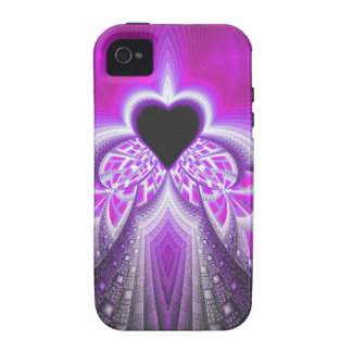 Abstract Pink And Purple Fractal Pattern Vibe iPhone 4 Case
