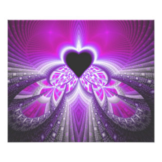 Abstract Pink and Purple Fractal Pattern Photo Print