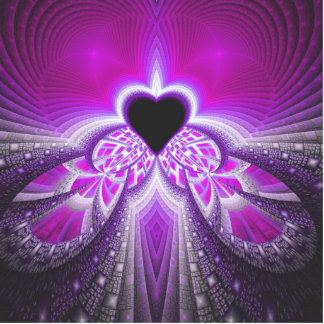 Abstract Pink and Purple Fractal Pattern Photo Sculptures