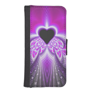 Abstract Pink And Purple Fractal Pattern iPhone 5 Wallets