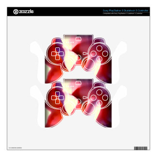 Abstract Pink and Purple Gifts Skins For PS3 Controllers