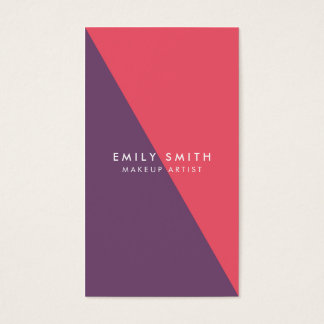 Abstract Pink and Purple Makeup Social Media Business Card